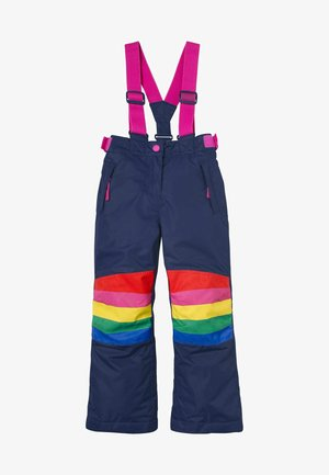 Snow pants - schuluniform-navy, regenbogen