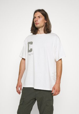 LOGO SCRIPT  - T-shirt print - white