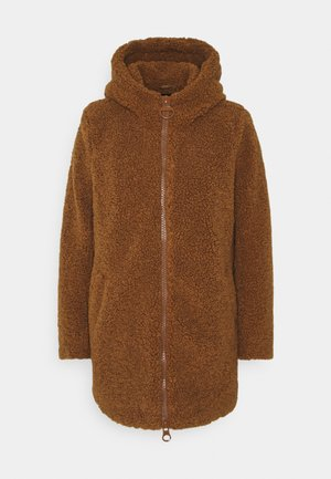 ONLNEW TERRY CURLY COAT  - Short coat - toasted coconut