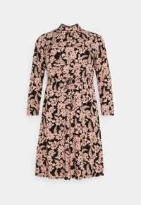 Pieces Curve - PCZINE DRESS CURVE - Hverdagskjoler - black/misty rose - 6