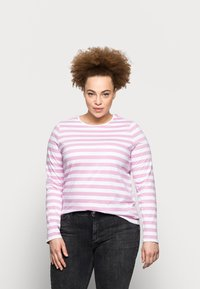 Pieces Curve - PCRIA NEW TEE - Long sleeved top - bright white/pastel lavender - 0