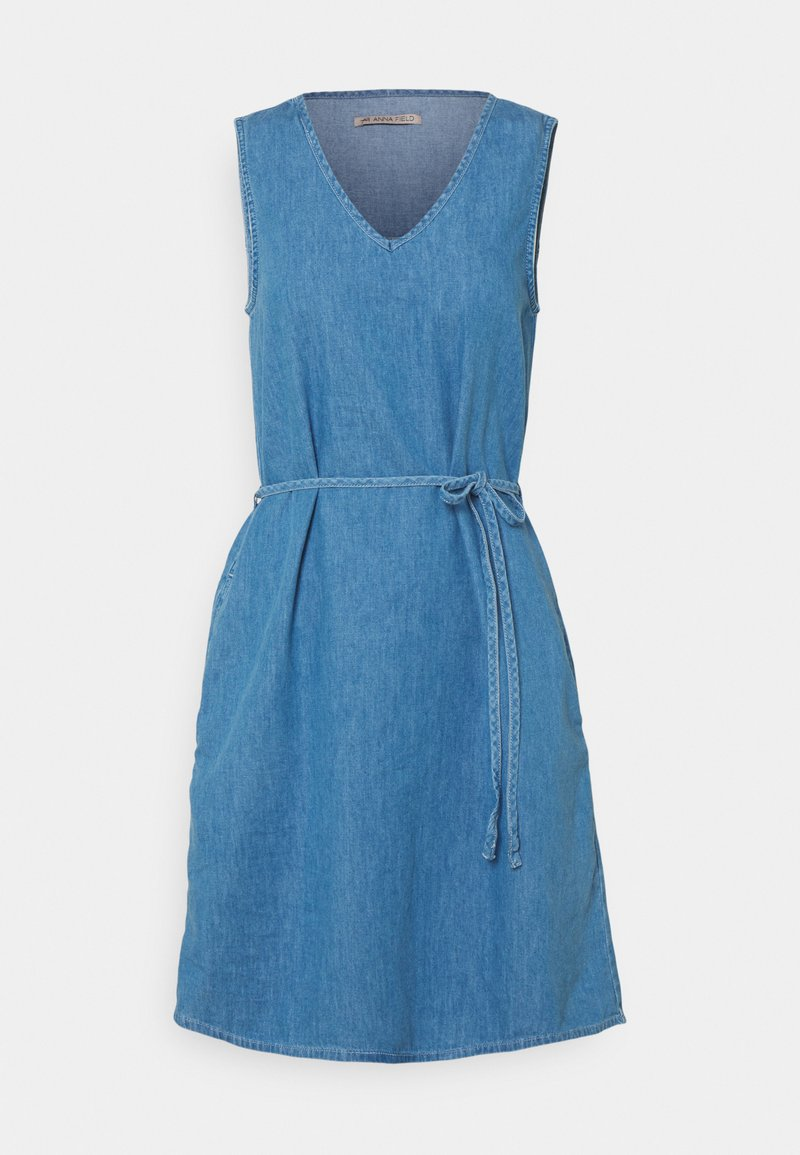 Anna Field - Denim dress - light blue denim