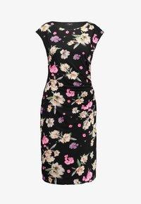 Wallis Tall - SUMMER PETALRUCH SIDE DRESS - Cocktail dress / Party dress - black - 4