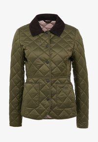 Barbour - DEVERON QUILT - Light jacket - olive/pale pink - 3