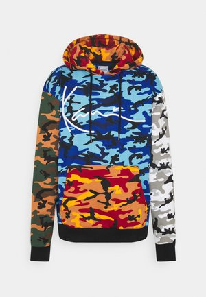 SIGNATURE BLOCK CAMO HOODIE - Sweatshirt - black