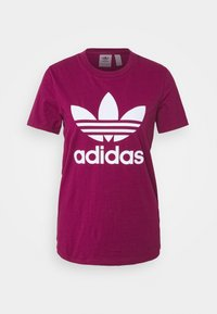 adidas Originals - TREFOIL TEE - T-shirt med print - power berry/white - 4