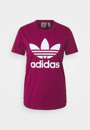 TREFOIL TEE - Camiseta estampada - power berry/white