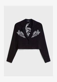 Bershka - MIT PRINT  - Button-down blouse - black - 4