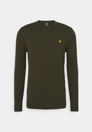 Crew Neck Jumper - Svetr - trek green