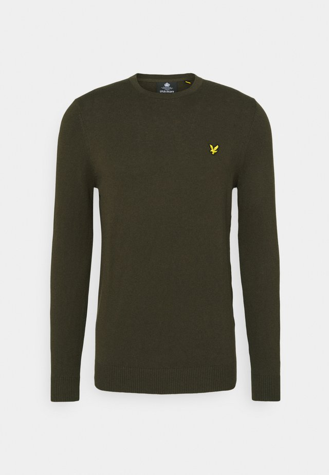 Crew Neck Jumper - Trui - trek green