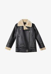 Stradivarius - Faux leather jacket - black - 4