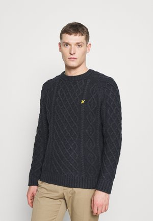 HEAVY CABLE CREW NECK - Jumper - dark navy