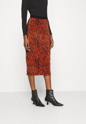 HIGH WAISTED PENCIL - Pencil skirt - rust