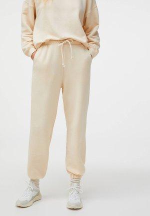 Tracksuit bottoms - beige