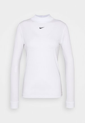 TEE MOCK SLIM - Long sleeved top - white