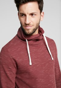 edc by Esprit - FUNNEL NECK TEE - Long sleeved top - bordeaux red - 3