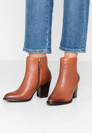 PORTRAY - High heeled ankle boots - tan