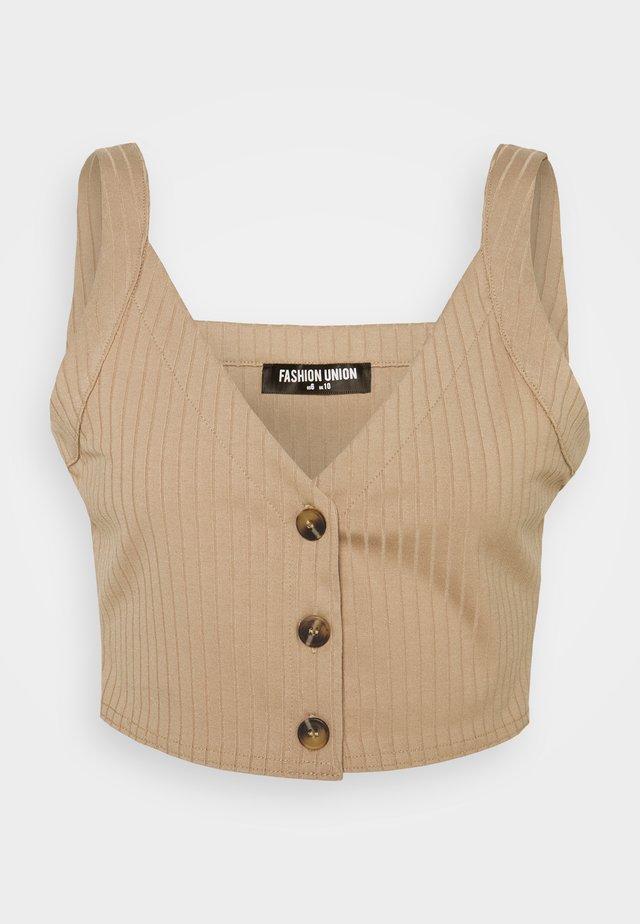BRYONY VEST - Topper - beige