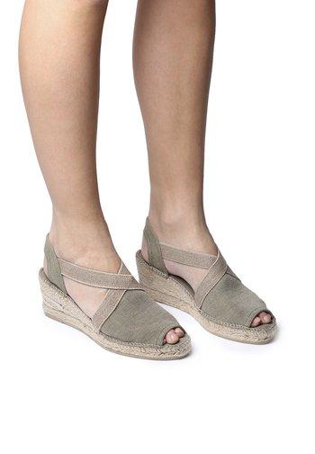 BREDA-V - Wedge sandals - khaki