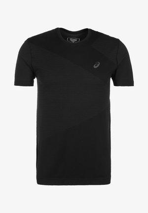 Print T-shirt - performance black