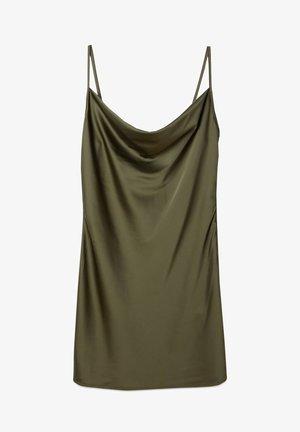 KURZES SATIN - Day dress - khaki