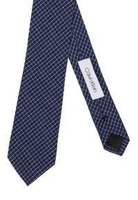 Calvin Klein - CLASSIC MINI CHECK TIE - Kravata - navy - 2