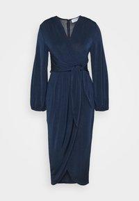 TWIST FRONT LONG SLEEVE DRESS - Day dress - navy