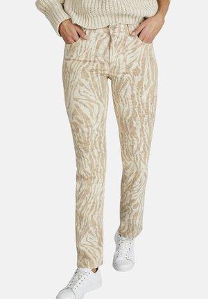 Straight leg jeans - hellbraun