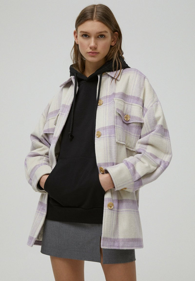 PULL&BEAR - Light jacket - mauve