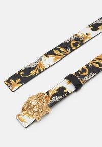 Versace - CINTURA FIBBIA MEDUSA UNISEX - Belt - nero/oro/bianco - 1