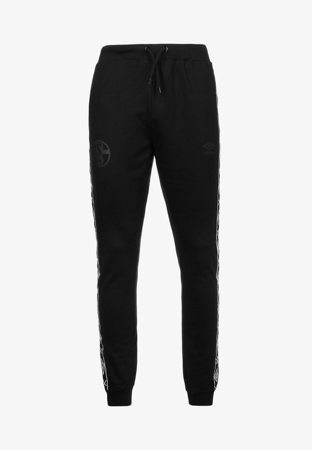 FC SCHALKE TAPED  - Tracksuit bottoms - black