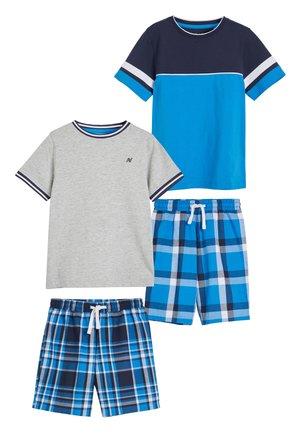 BLUE/GREY 2 PACK CHECK SHORT PYJAMAS (3-16YRS) - Pyjama set - blue