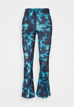 TIE DYE FLARE - Trousers - blue