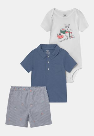 SET - T-shirt print - blue