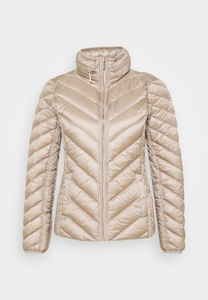 SHORT PACKABLE PUFFER - Kurtka puchowa - champagne