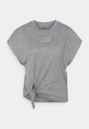 DRY TIE - Basic T-shirt - carbon heather/metallic silver