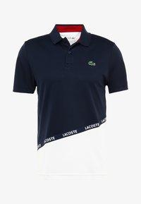TENNIS - Sports shirt - navy blue/white/ red