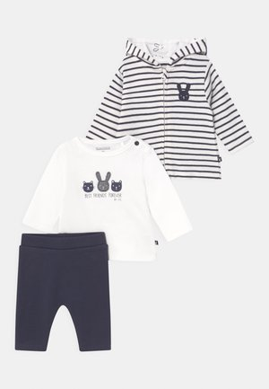 SET UNISEX - Neuletakki - off-white/dark blue