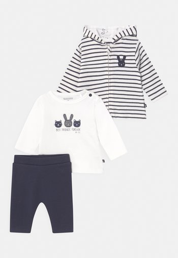 SET UNISEX - Cardigan - off-white/dark blue