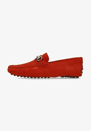 NELSON  - Moccasins - red