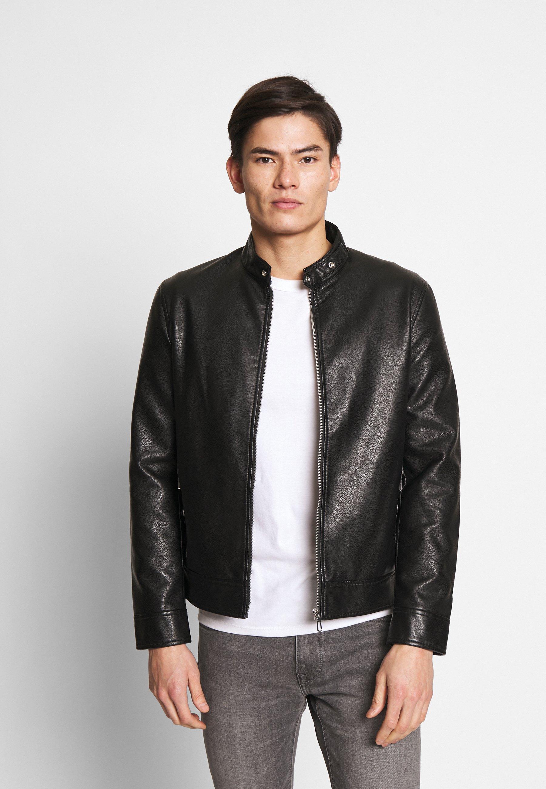 Men RUBIKER - Faux leather jacket