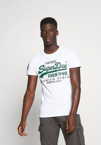 Superdry - TEE - Print T-shirt - white - 0