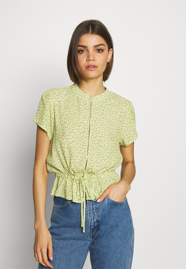 ELLA MINI TULIPS BLOUSE - Button-down blouse - citron