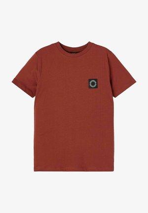 NLMNOONIE - T-Shirt basic - henna