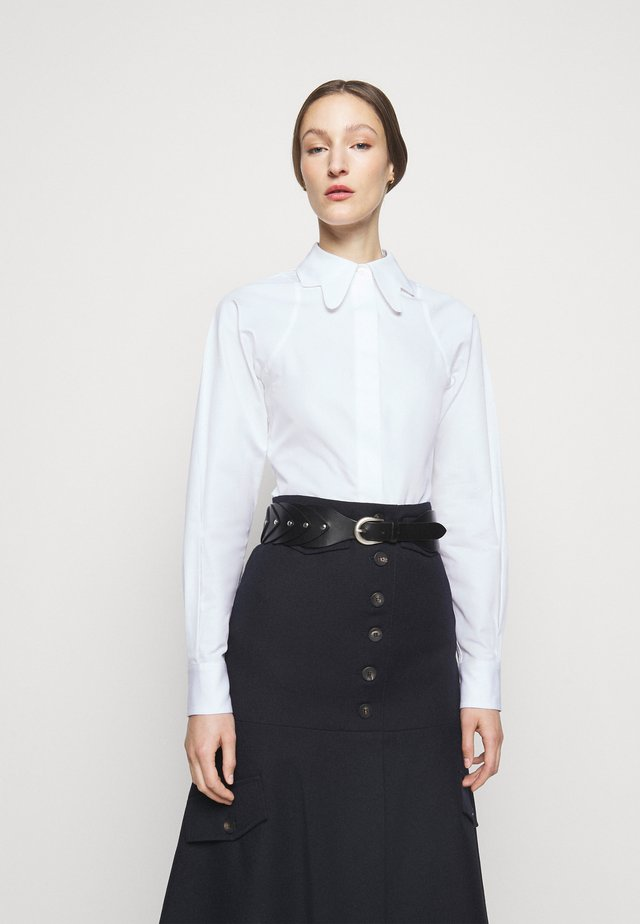 BUTTERFLY COLLAR FITTED - Button-down blouse - white