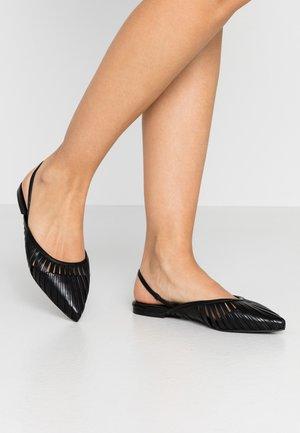 ZONE - Slingback ballet pumps - schwarz