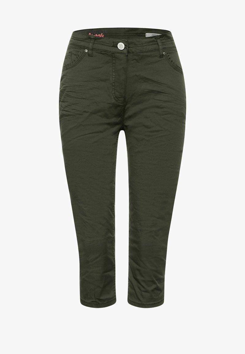 Cecil - SLIM FIT - Shorts - grün