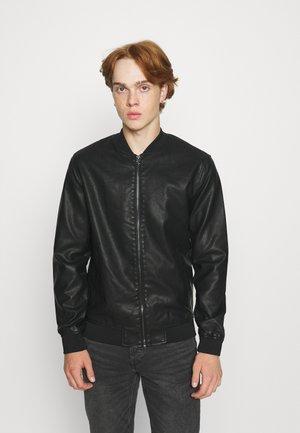 ONSAKSEL BOMBER JACKET - Faux leather jacket - black