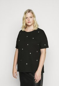 Dorothy Perkins Curve - CURVE METALLIC STAR EMBELLISHED TEE - Print T-shirt - grey - 0