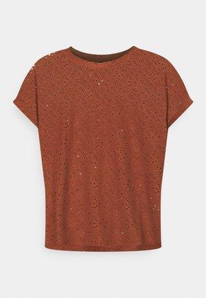 ONLSMILLA - T-shirt z nadrukiem - henna